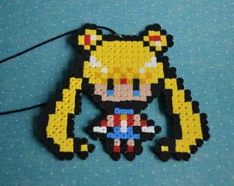 Perler bead Sailor Moon inspired Sailor Scout pendants
