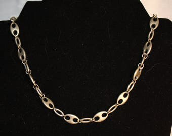 "18"" Silver tone large Link Chain"