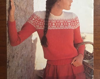 Patons #710, Sweaters, yolk fair Isle sweaters, vests,  BLUEBELL 5 ply patterns