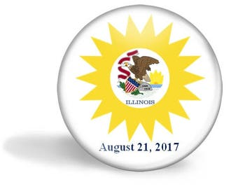 Illinois Eclipse Magnet, Eclipse Party Pin, Illinois Eclipse Pin, Total Solar Eclipse, Eclipse Party Favor