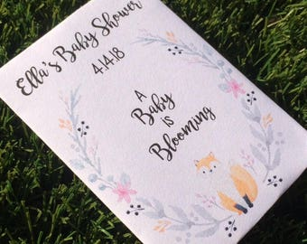 fox baby shower favors, fox baby shower, fox baby shower seed packets, forrest baby shower favors, woodland baby shower favors