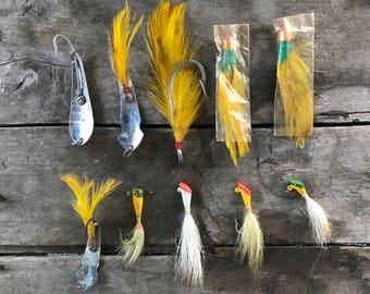 Set of Ten Vintage Fishing Lures