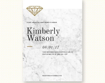 Upscale baby shower etsy marble baby shower invitation classy chic baby invitation trendy baby shower invite marble filmwisefo