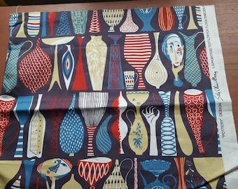 Swedish design by Stig Lindberg fabric Pottery 60s