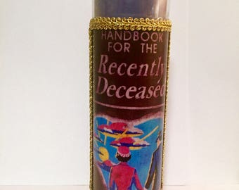 Handbook for the Recently Deceased Beetlejuice prayer candle