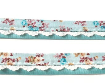 17mm satin ribbon and lace trim