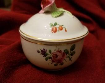 Gorgeous Von Schierholz Trinket Box, Floral,  Vintage