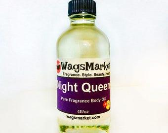 Night Queen, Roll On Bottle, 1/3oz, 1oz, Pure Fragrance Body Oil