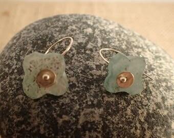Ancient Roman Glass Bead Earrings