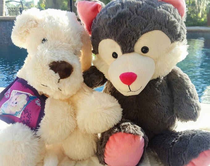 Large stuffed animal with Toy arm sling of choice - Get Well Gift