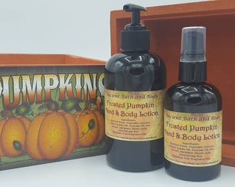 Frosted Pumpkin Lotion, Natural Lotion, Vegan Lotion, Skin Moisturizer, Body Lotion, Hand Lotion, PARABEN FREE