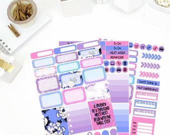 Sparkle Weekly Kit Stickers! Perfect for your Erin Condren Life Planner, calendar, Paper Plum, Filofax!
