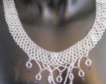 A 20 inch black diamond luster necklace