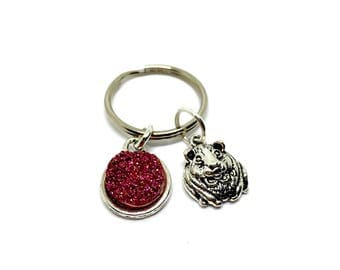 Guinea pig keyring - cavy accessories - guinea pig gifts - pet owner gifts - animal accessories - pet owner accessories - gifts for her