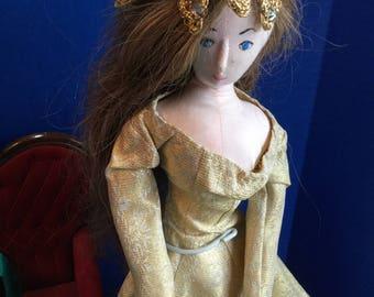 Handmade Cloth Doll Brigitte