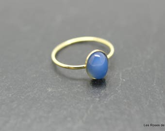 mini ring oval ring, size 53 gold