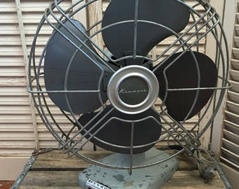 Vintage Kenmore Fan~  Vintage Decor, Industrial Decor, Desk Fan, Adjustable Fan, 3 Speed Fan, Vintage Table Fan, Movie Prop