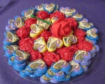 Pretty Beast Beauty chocolates candy tray