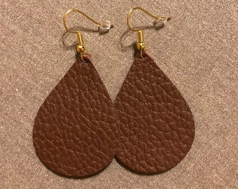 Leather teardrop earrings | leather tear  drop earrings | leather teardrop earrings | leather earrings