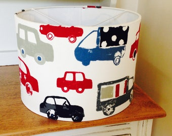 Cars and Trucks Lampshade