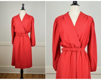 70s Petite Dress, Vintage Clothing, 70s Clothing, 70s Clothes, 70s Dress, Secretary Dress, Red Dress, Petite Vintage Clothing, Small Dress