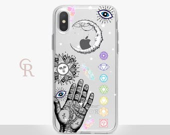 Spiritual Clear Phone Case - Clear Case - For iPhone 8 - iPhone X - iPhone 7 Plus - iPhone 6 - iPhone 6S - iPhone SE Transparent  Samsung S8