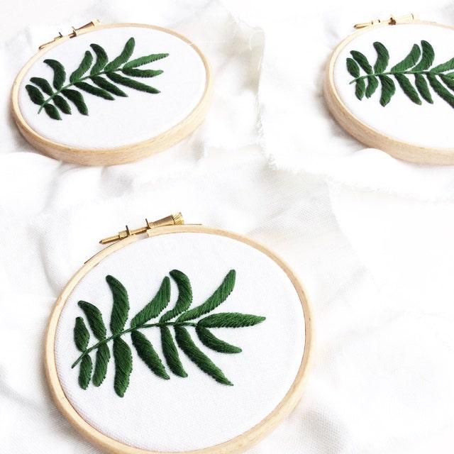 Embroidery hoop art handmade in london uk by sewandsaunders
