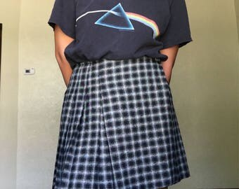 90s Plaid and Pleated Skirt