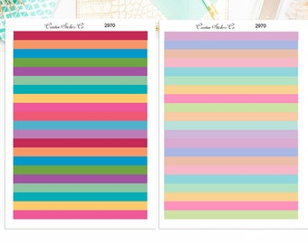 Blank Headers Stickers – Blank Headers Color Planner Stickers – Sized for the Erin Condren – 2970