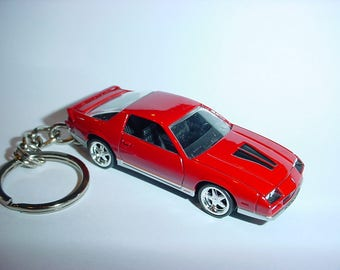 3D 1985 Chevrolet Camaro Z28 custom keychain by Brian Thornton keyring key chain finished in red stock trim