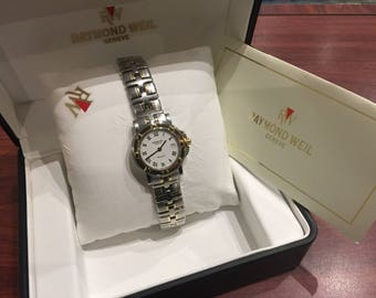 Gold & Steel Raymond Weil Geneve Parsifal 9430, ref 37wat3012 Ladies' Wristwatch. Box + papers.