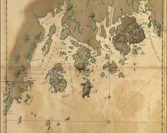 Poster, Many Sizes Available; Map Of Coast Of Maine 1776