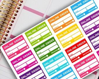 ONLINE ORDER TRACKER Planner Stickers