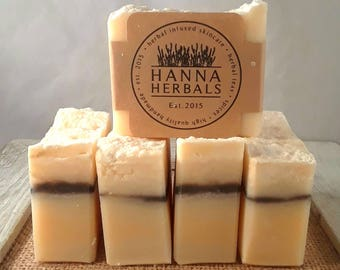 White Flower Soap - Magnolia scented - 3 ounce soap - Hanna Herbals Soap - Indigo Soap - Hand soap - guest soap