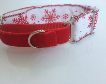 Martingale,Christmas collar,pet lover,custom dog collar,designer dog collar,dog collar fabric,unique collar,greyhound collar,whippet