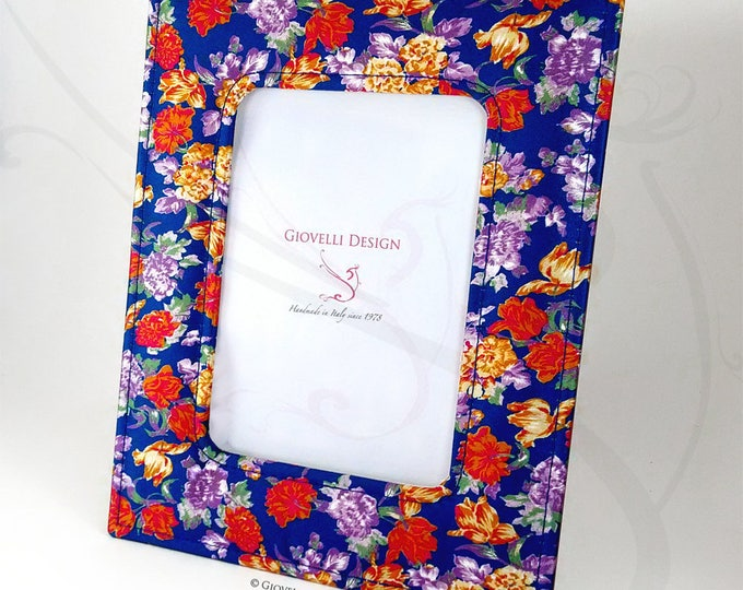 Floral Fabric Photo Frame