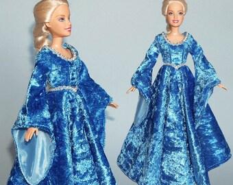 Medieval Barbie gown - handmade