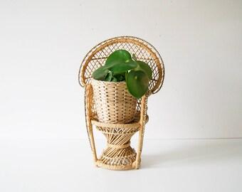 Mini Chair, Doll Chair, Doll armchair, peacock Chair small, plant stool, flower stool, peacock chair, rattan willow Stool