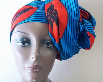 African print headwraps, ankara head tie African clothing headpiece for women christmax gift for her
