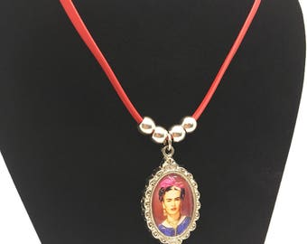 Frida Kahlo Choker Necklace, Frida Kahlo Jewelry, Mexican Icon, Mexican Culture, Frida Kahlo Pendant Choker