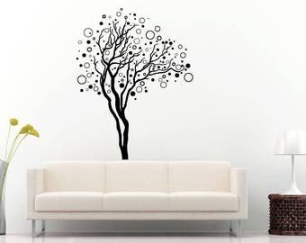 bubble tree branches abstract nature diy wall sticker decal vinyl mural decor art l2188
