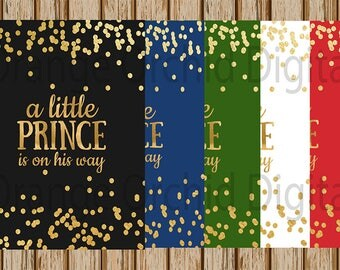 """INSTANT DOWNLOAD- A Little Prince is on his way Gender Reveal Sign- Maternity Photography Prop- Prince Sign- 8"""" x 10"""" image- Digital Image"""