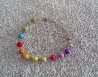 Rainbow multicolor bracelet / rainbow multicolor