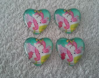 Lot 4 My little pony cabochons