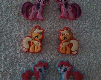 Set of 12 My little pony (badges for fangs) jibbitz