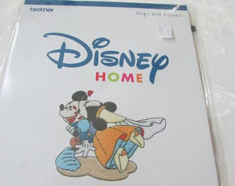 1 Brand New Brother Disney Hugs and Kisses Embroidery Card D Machines Only