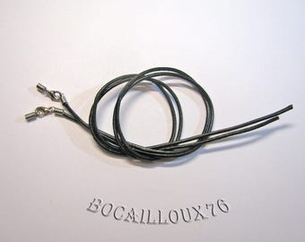 LEATHER cord with hook - set of 2