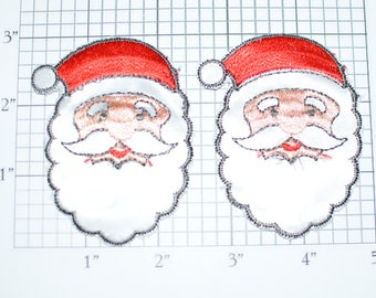 Santa Claus Sew-on Embroidered Patches Vintage Clothing Patch Christmas Cheer DIY Craft Idea Sewing Emblem for Jacket Shirt Hat Holidays s5