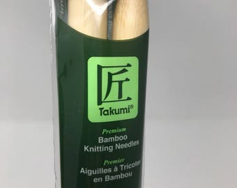 "Knitting Needles - Takumi Bamboo Premium 10"" by Clover"