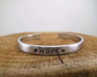 Hope - Hand-Stamped Bangle